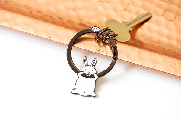 Hanging On Animal [White Cat] Key Chain By BMCS Life