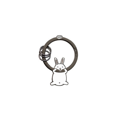 Hanging On Animal White Rabbit Key Chain By U-Pick