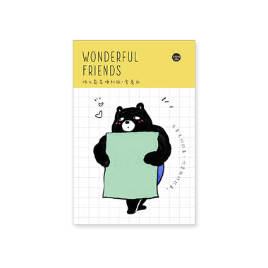 Wonderful Friends Muscle Man Sticky Notes