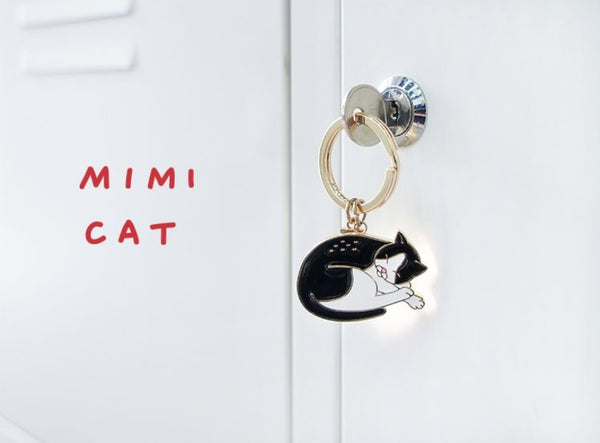 Mimi Cat Animal Key Chain By 小野 (Xao Ye)