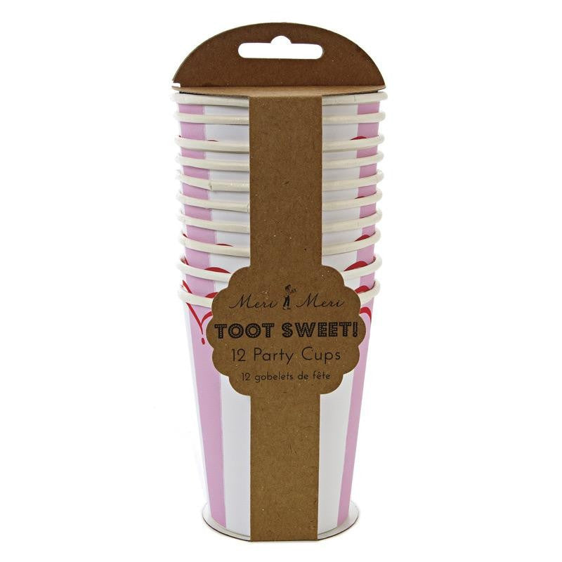 Toot Sweet Pink Party Cups