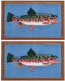Kylebooker 2Pcs Fishing Patches Fit For Fishing Vest Pack Fishing Tackle Bag Angler Jacket Hat