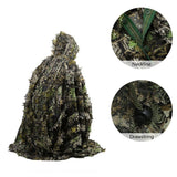 3D Leaves Ghillie Poncho