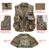 Kylebooker Versatile Men's Fishing Hunting Vest Mesh Back Utility Vest For Outdoor Activities FV04
