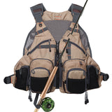 Kylebooker  Breathable Mesh Fishing Vest With Multi-Pockets For Men And Women FV01