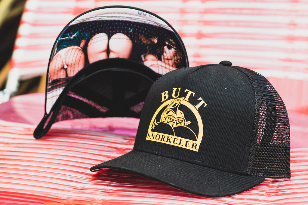 #AssOnTheGlass Snapback - Black