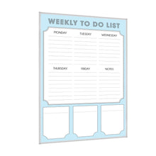 Load image into Gallery viewer, Dry Erase Calendar Whiteboard: Framed Magnetic White Board with Weekly to Do List, 24 x 36 Inch, Ultra-Slim Silver Aluminum Frame