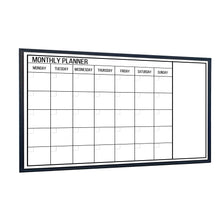 Load image into Gallery viewer, Dry Erase Calendar Whiteboard, Colorful Magnetic White Board Calendar 36 x 24 Inch, Framed Monthly Planning Board Ultra-Slim black Aluminium Frame