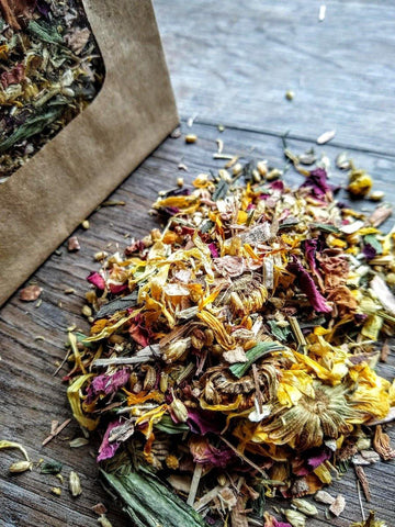 Persephone's Steam & Soak || Calming & Astringent Herbal Blend