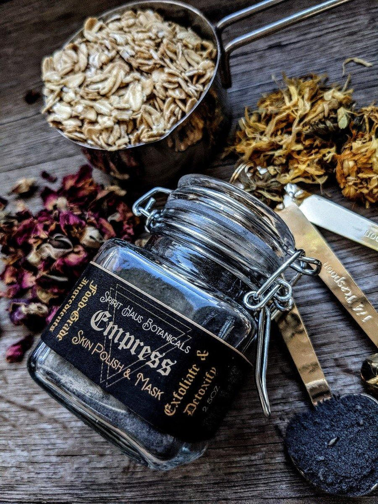 Empress Skin Polish || All-In-One Activated Charcoal Scrub & Mask - The Rex Apothecary is now SPIRIT HAUS Botanicals
