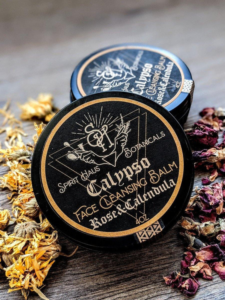 Calypso Cleansing Balm || Soap-Free Moisturizing Facial Cleanser - The Rex Apothecary is now SPIRIT HAUS Botanicals