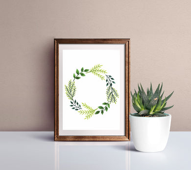 Simple Green Wreath