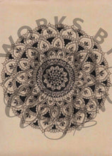 Load image into Gallery viewer, Large Mandala on Brown Paper
