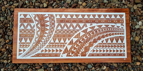 Custom Polynesian Design on Wood