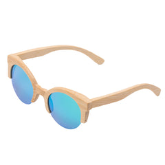 Angcen 2018 News Bamboo Sunglasses Men Half Frame Round Wooden Sunglasses polarized Women Mirror Vintage Handmade Eyewear UV400