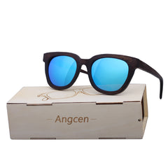 Angcen 2017 New Hot fashion Men Women brand designer Glasses Bamboo Sunglasses Vintage Wood Handmade Frame Polarized Eyewear