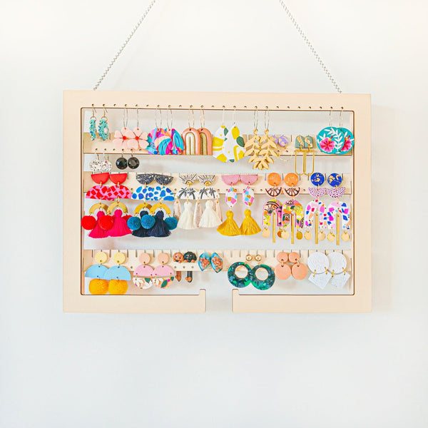 Yobi Hanging Adjustable Earring Holder - Frame with arms