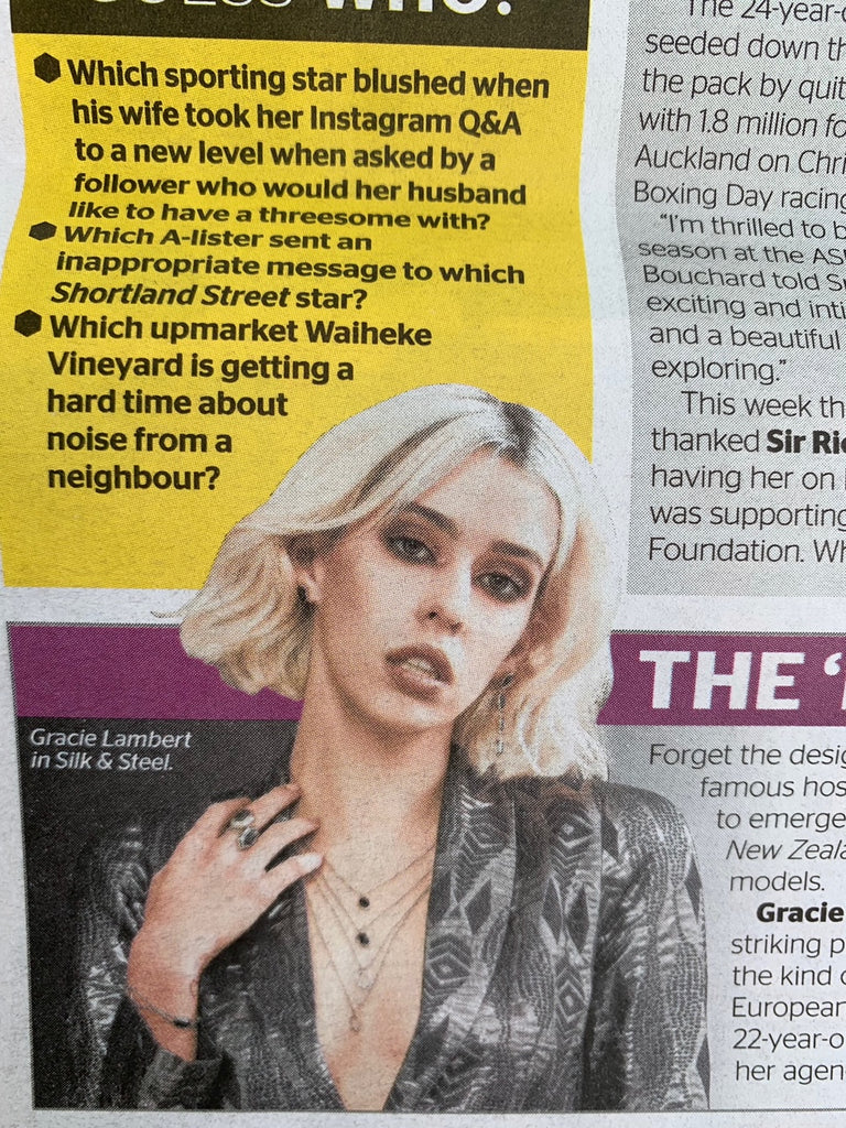 NZ Herald Spy Silk&Steel Gracie Lamber Project Runway