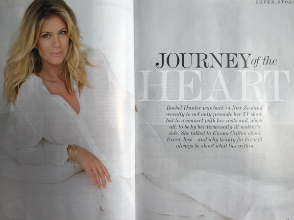 Next Magazine Aug 2017 Rachel Hunter wears Silk&Steel jewellery