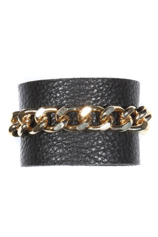 Stay with Me / Black + Gold / Cuff