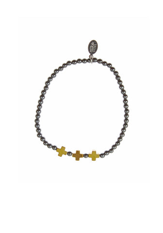 Opposites Attract 3 / Gunmetal + Gold / Bracelet