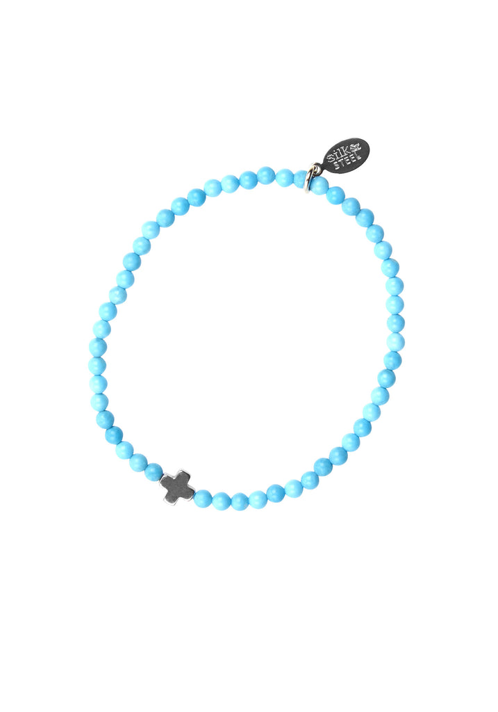 Opposites Attract 1 / Turquoise + Silver / Bracelet