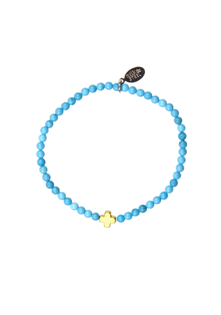Opposites Attract 1 / Turquoise + Gold / Bracelet