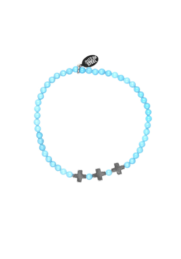 Opposites Attract 3 / Turquoise + Silver / Bracelet