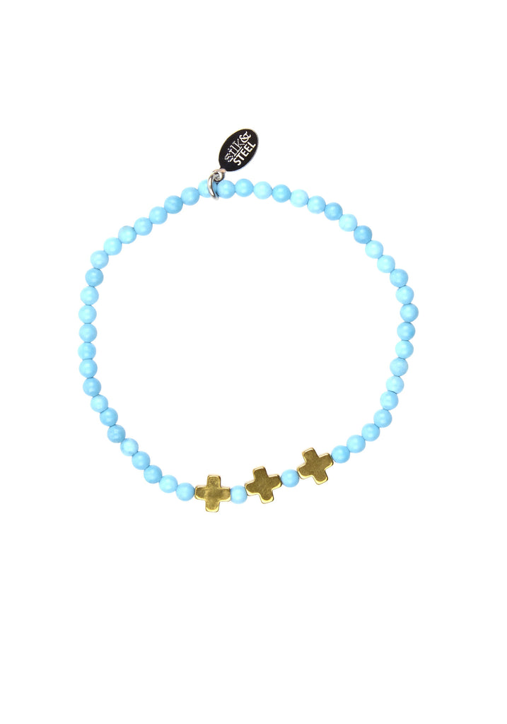 Opposites Attract 3 / Turquoise + Gold / Bracelet