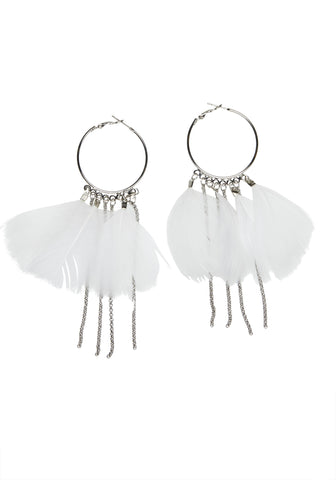 As Light As / White + Silver / Earrings