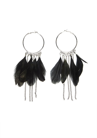 As Light As / Black + Silver / Earrings