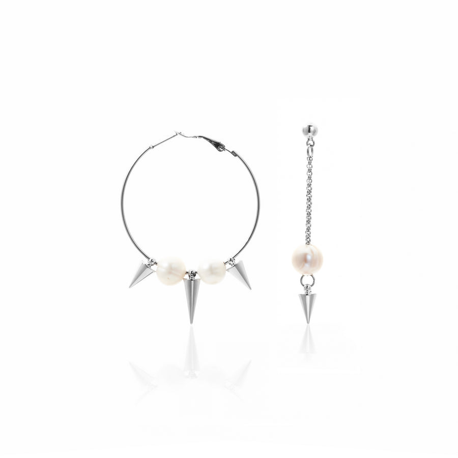 Moment of Truth / Earrings / Silver + Pearl
