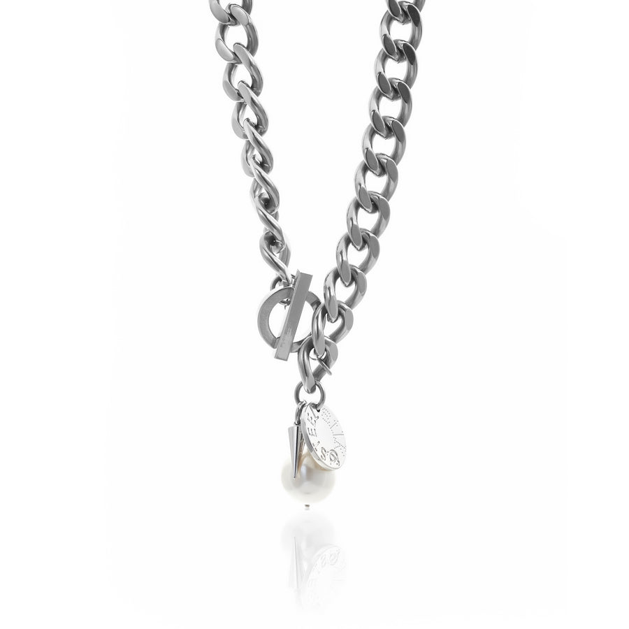 Vengeance / Necklace / Silver + Pearl