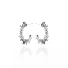 Silk&Steel Jewellery Axis Radiance Silver hoop spike earrings