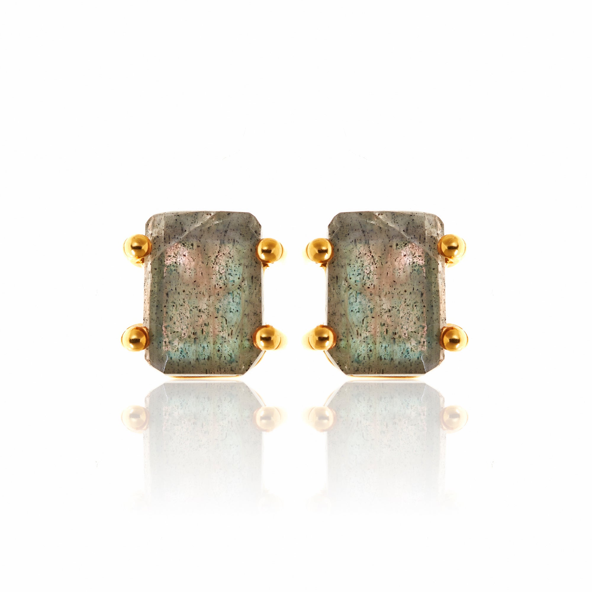 Silk&Steel Jewellery Prima Donna Labradorite and Gold Earrings La Dolce Vita