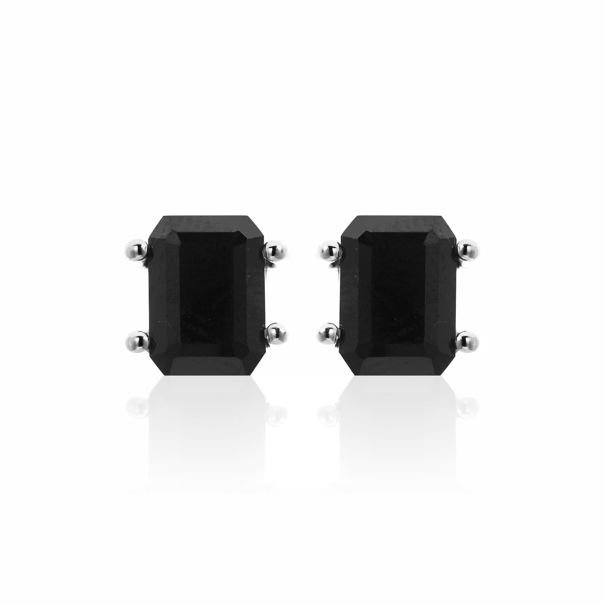 Silk&Steel Jewellery Prima Donna Black Spinel and Silver Earrings La Dolce Vita