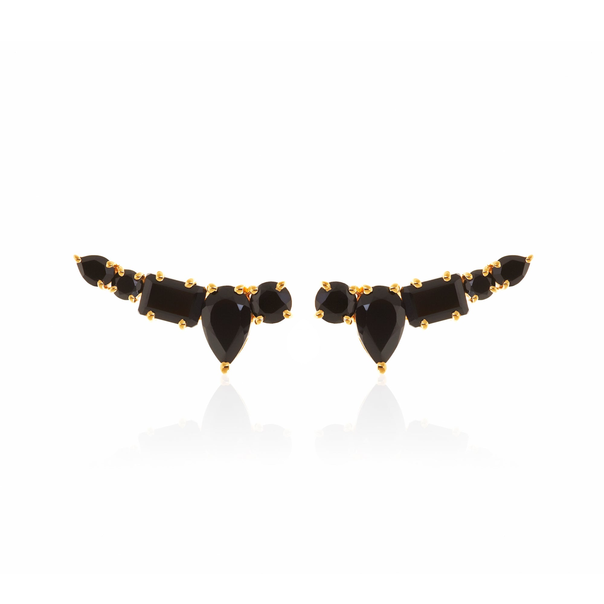 Silk&Steel Jewellery Prima Amore Black Spinel Ear Climber