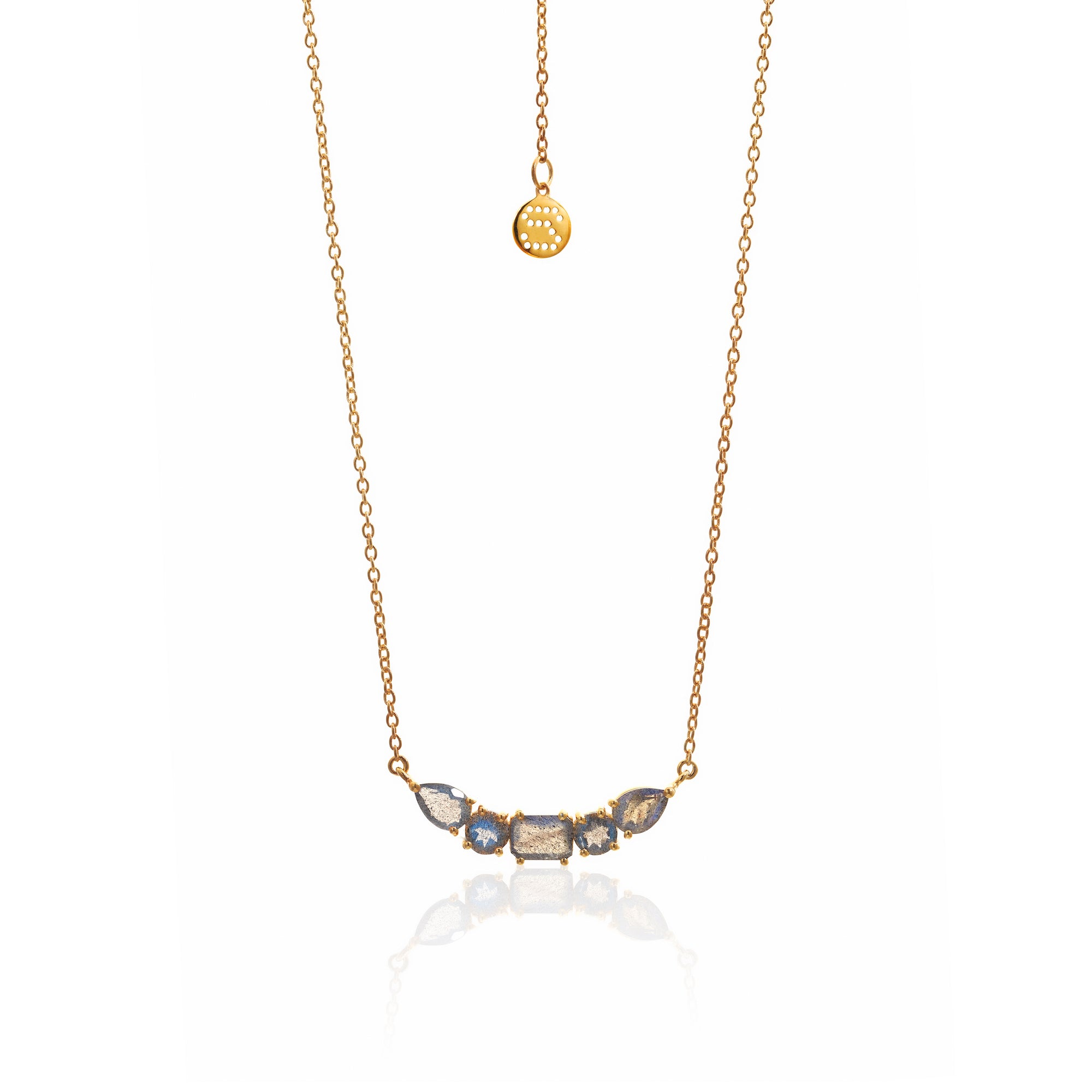 Silk&Steel Jewellery Amore Labradorite and Gold Necklace from La Dolce Vita Collection