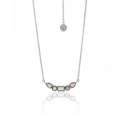 Silk&Steel Jewellery Amore Labradorite and Silver Necklace from La Dolce Vita Collection