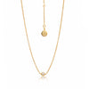 Silk&Steel Jewellery Axis Gold and Freshwater pearl Pistil necklace