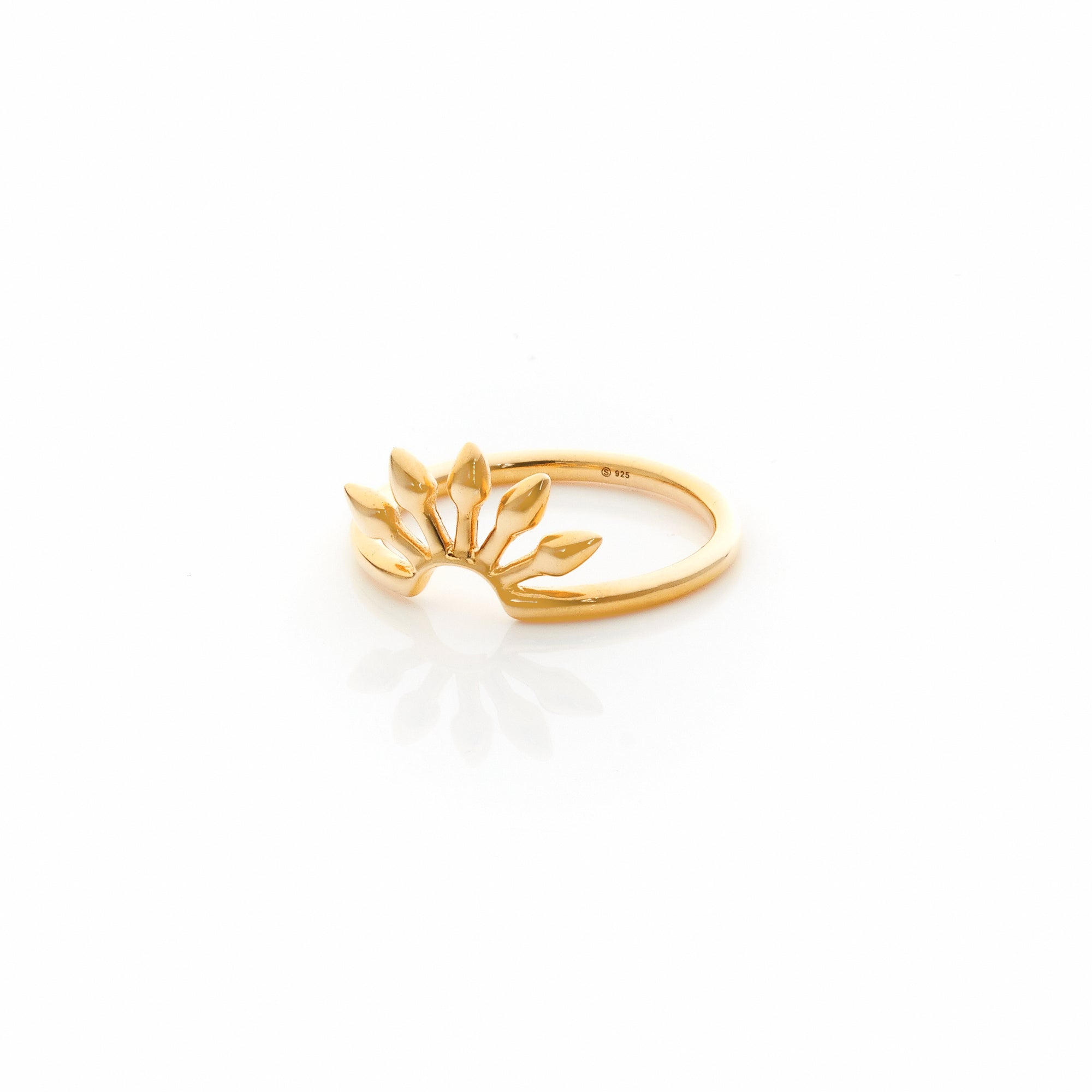 Silk&Steel Jewellery Axis Gold spike stacker ring