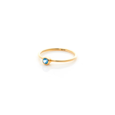 AXIS / Ring / Pistil / Gold + Blue Topaz