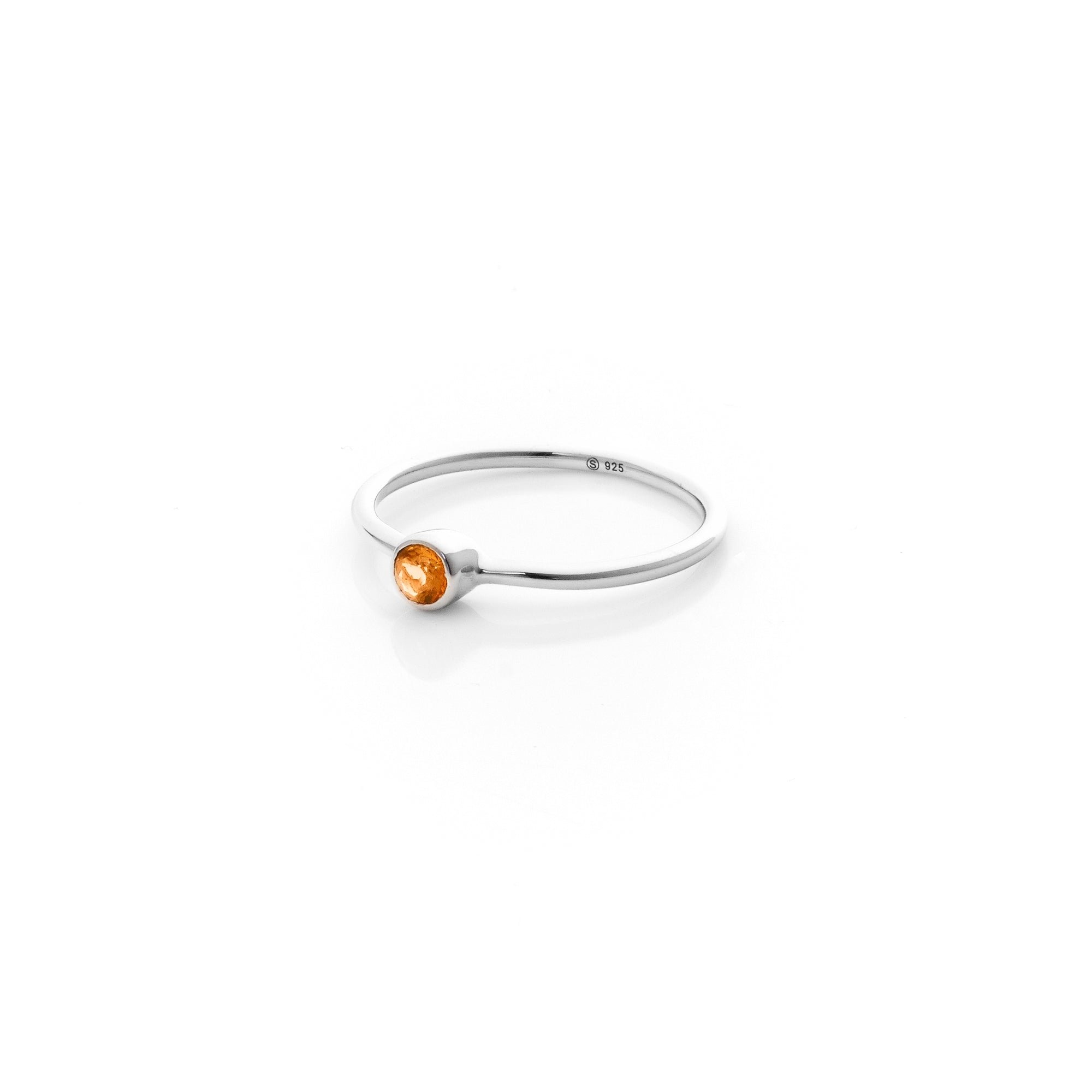 Silk&Steel Jewellery Axis Stacker ring Citrine Gemstone Pistil Ring