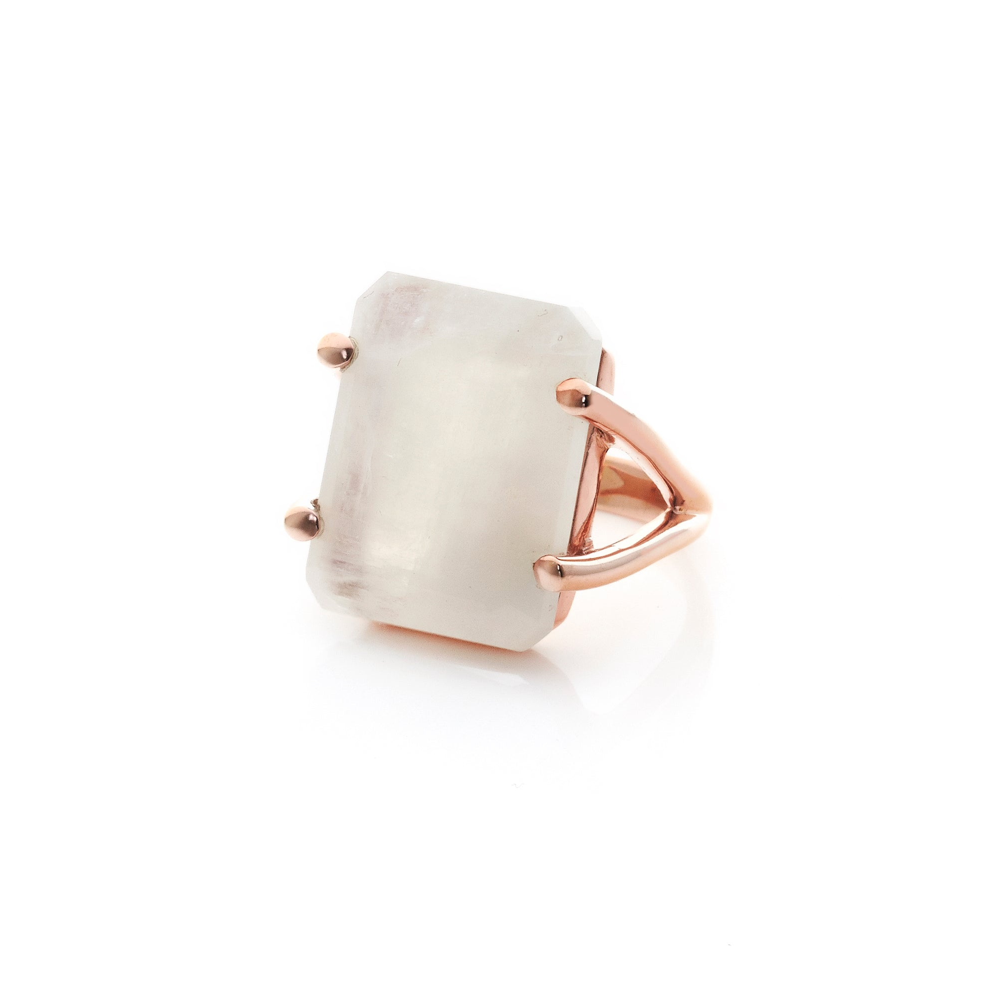 Prima Donna / Moonstone + Rose Gold / Ring