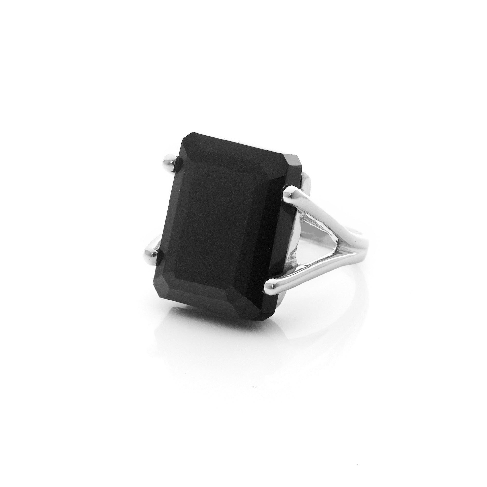 Silk&Steel Jewellery Prima Donna Black Spinel and Silver Ring
