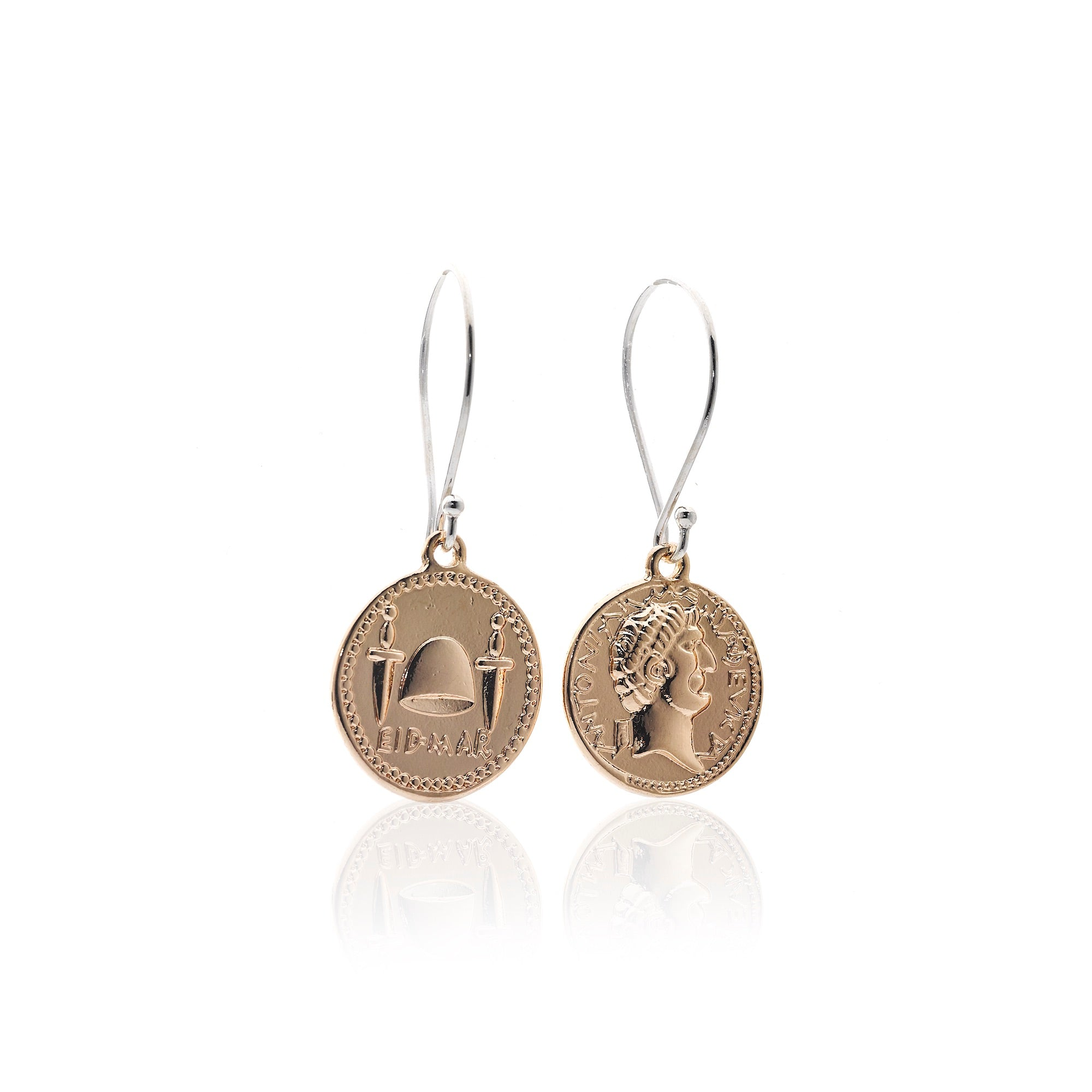 Steel by Silk&Steel Bohemia Empress Roman Coin Earrings