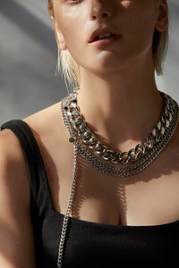 Silk & Steel Jewellery Assigned To Danger necklace stainless steel curb chain