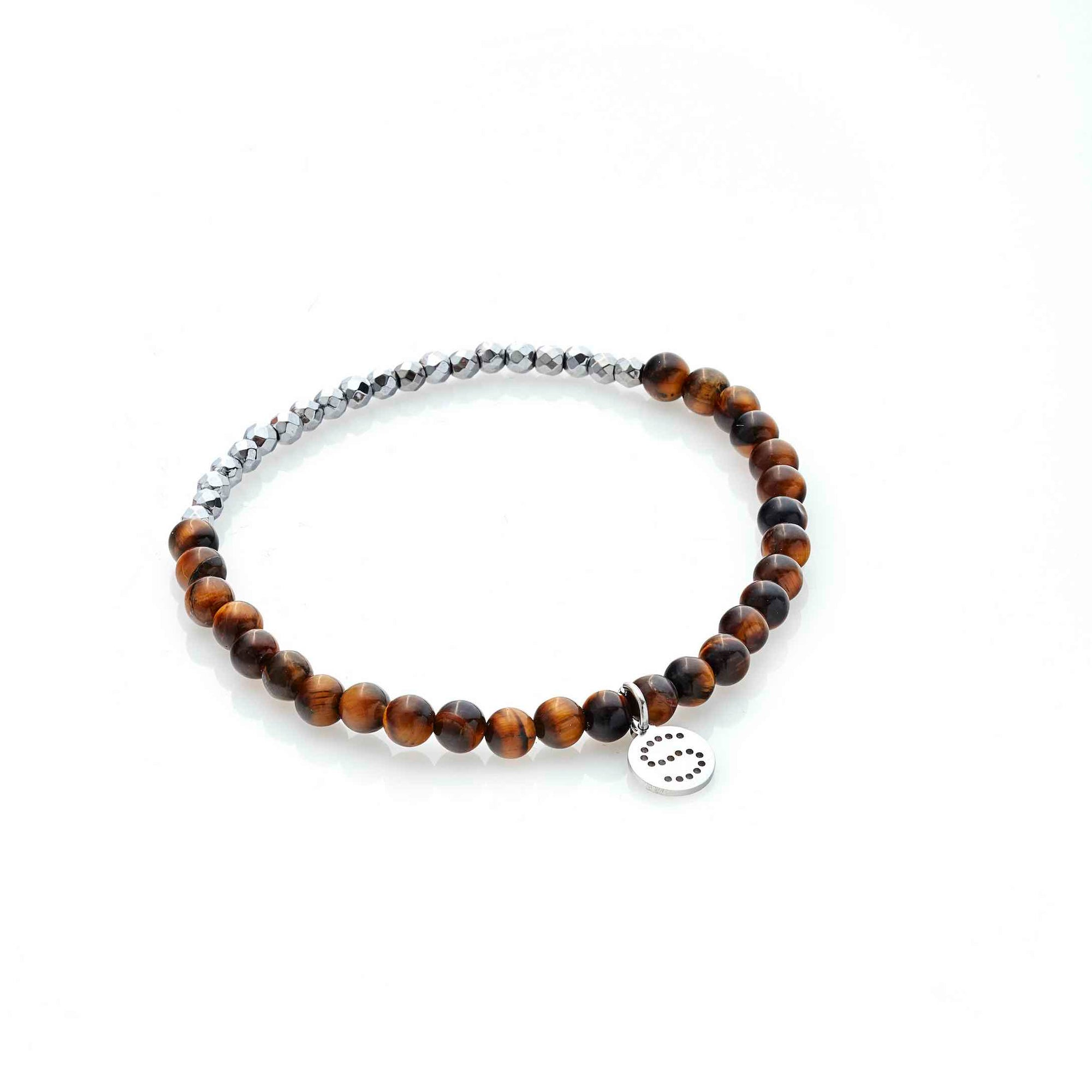 Silk & Steel Party At The Front Bracelet Silver Tigers Eye