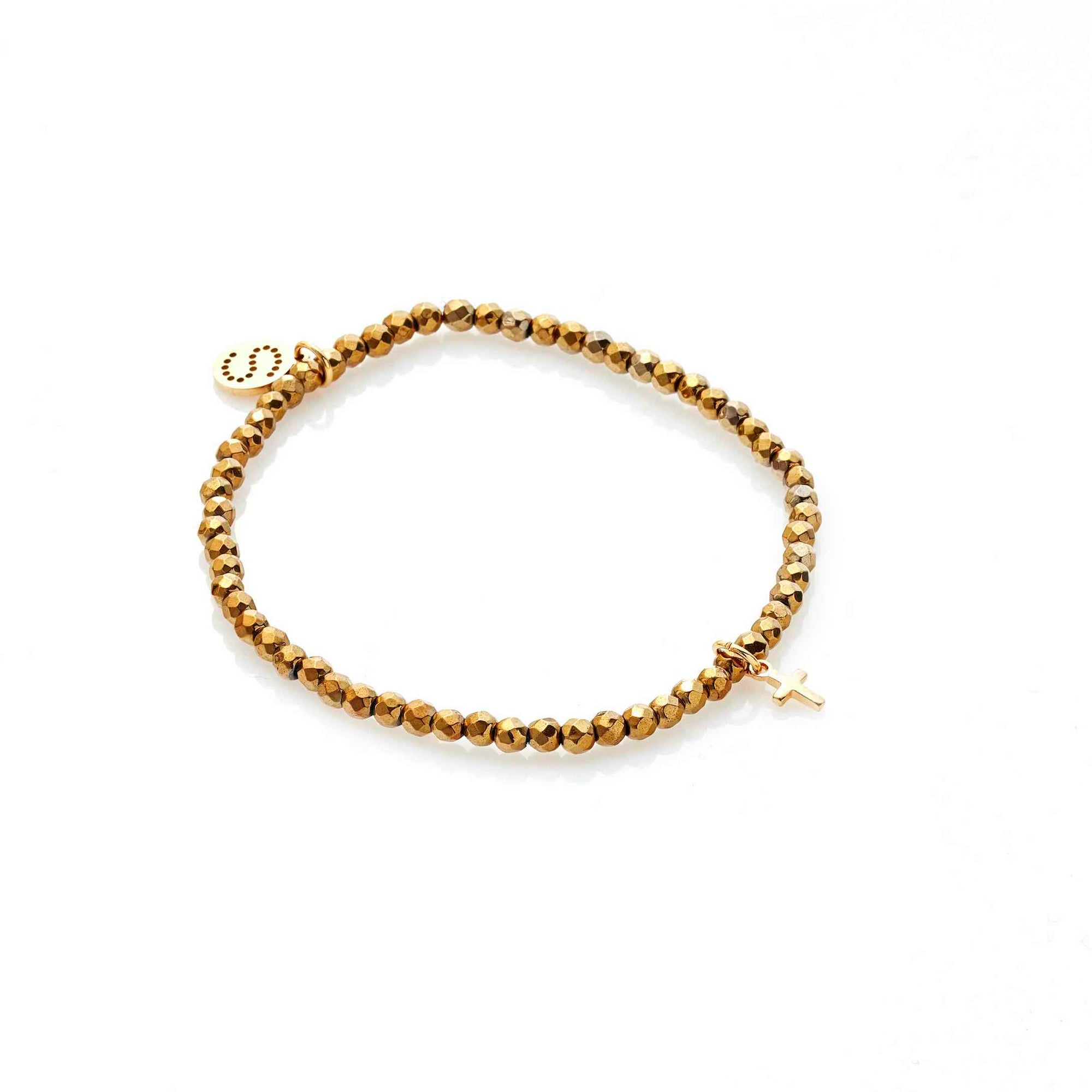 Silk & Steel Disco Bracelet Gold