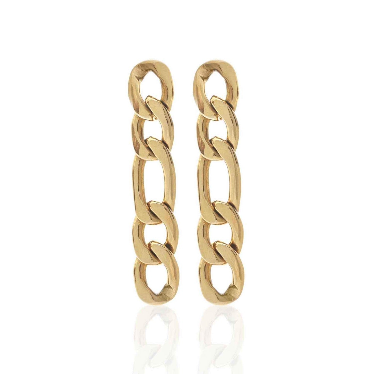 Silk & Steel Figaro earrings gold